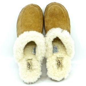 UGG~kalie~SHEARLING & SUEDE CLOGS~SIZE 8M